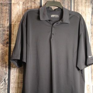 Nike Golf Dri Fit Large Polo Black Gr8 Cond.